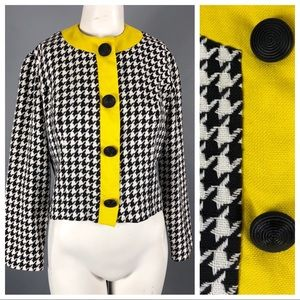Vintage 60s Lanz Cropped houndstooth Jacket